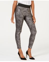 INC International Concepts - I.n.c. Shaping Pebble-texture Faux-leather Smoothing Leggings, Created For Macy's - Lyst