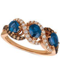 Le Vian - Blueberry Sapphiretm (1-1/5 Ct. T.w.) & Diamond (3/8 Ct. T.w.) Ring In 14k Rose Gold - Lyst