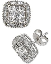 Macy's - Diamond Cluster Halo Stud Earrings (1/2 Ct. T.w.) In 14k White Gold - Lyst