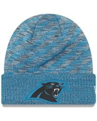 new product 87cc3 f4afd KTZ Nfl Carolina Panthers Chiller Beanie in Gray for Men - Lyst