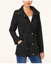 Style & Co. - Cotton Hooded Utility Jacket - Lyst