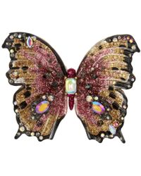 Betsey Johnson - Gold-tone Multi-stone Butterfly Statement Ring - Lyst