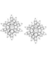 Wrapped in Love - Diamond Starburst Stud Earrings (1 Ct. T.w.) In 14k White Gold - Lyst