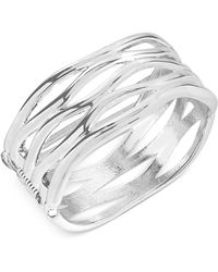 Robert Lee Morris - Silver-tone Sculptural Cut-out Hinge Bangle Bracelet - Lyst