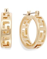 Charter Club - Gold-tone Greek Key Small Hoop Earrings - Lyst