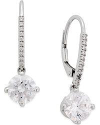 Arabella - Swarovski Cubic Zirconia Earrings In 14k White Gold - Lyst