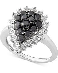 Macy's - Diamond Teardrop Cluster Ring (1 Ct. T.w.) In Sterling Silver - Lyst