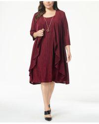 712ca8e81ab9b R   M Richards - Plus Size Pleated Dress And Draped Jacket - Lyst