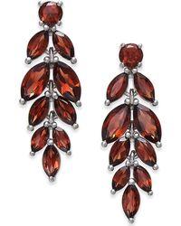 Macy's - Rhodolite Garnet Vine Drop Earrings (7 Ct. T.w.) In Sterling Silver - Lyst