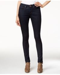 Eileen Fisher - Low-rise Skinny Jeans, Black Wash - Lyst