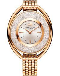 Swarovski - Women's Swiss Crystalline Gold-tone Pvd Stainless Steel Watch 37mm - Lyst