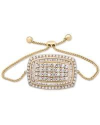 Wrapped in Love - Tm Diamond Cluster Bolo Bracelet (2 Ct. T.w.) In 14k Gold - Lyst