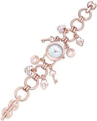 Charter Club - Women's Rose Gold-tone Charm Bracelet Watch 23mm - Lyst