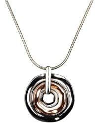 Nine West - Necklace, Tri Tone Orbital Pendant - Lyst