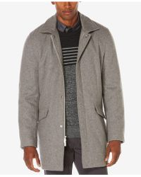 Perry Ellis - Men's Overcoat - Lyst