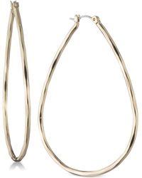 Nine West - Large Teardrop Hoop Earrings - Lyst