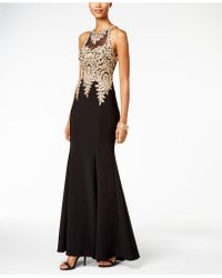 Xscape - Petite Embroidered Mesh Mermaid Gown - Lyst