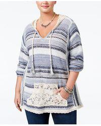 American Rag - Trendy Plus Size Southwestern Hoodie Sweater - Lyst