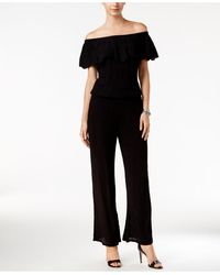 INC International Concepts - Petite Off-the-shoulder Crinkle Jumpsuit - Lyst
