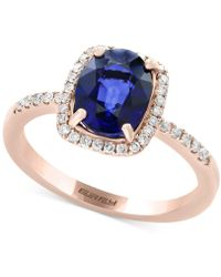 Effy Collection - Final Call By Effy® Diffused Ceylon Sapphire (1-9/10 Ct. T.w.) And Diamond (1/5 Ct. T.w.) Ring In 14k Rose Gold - Lyst