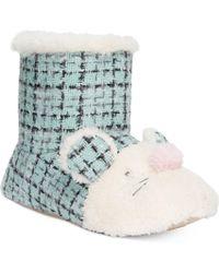 Kensie - Sparkle Tweed Mouse Critter Booties - Lyst
