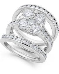 Macy's - Diamond Bridal Set In 14k Gold (3-3/4 Ct. T.w.) - Lyst