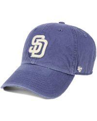 1e6fa46aeb1f8 Lyst - 47 Brand San Diego Padres Adjustable Clean Up Cap in Blue for Men
