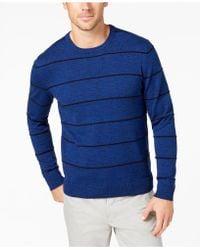 Alfani - Striped Crew-neck Sweater, Created For Macy's - Lyst