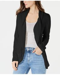 Style & Co. - Petite Pointelle-trim Cutaway Cardigan, Created For Macy's - Lyst