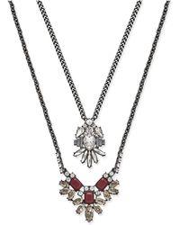 ABS By Allen Schwartz   Silver-tone Layered Pendant Necklace   Lyst