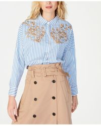 Marella Striped Embroidered Shirt