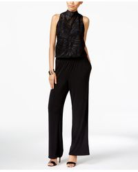 INC International Concepts - Lace Wide-leg Jumpsuit - Lyst