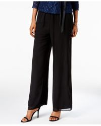 Alex Evenings - Petite Chiffon Palazzo Pants - Lyst