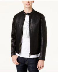 Armani Exchange - Men's Faux-leather Moto Jacket - Lyst