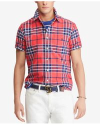 Polo Ralph Lauren - Big & Tall Classic Fit Plaid Cotton Shirt - Lyst