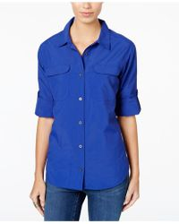 G.H.BASS - Pocketed Roll-tab Shirt - Lyst
