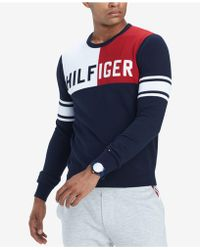 Tommy Hilfiger - Big & Tall Bedford Colorblocked Sweater, Created For Macy's - Lyst