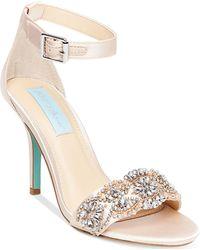 Betsey Johnson - Gina Embellished Evening Sandals - Lyst