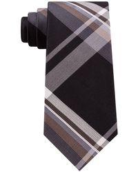 Kenneth Cole Reaction - Onyx Plaid Silk Tie - Lyst