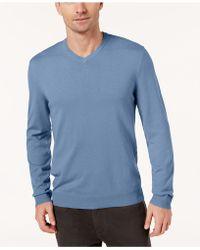 Alfani - Slim-fit V-neck Sweater - Lyst