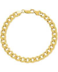 Macy's - Curb Link Wide Chain Bracelet In 18k Gold-plated Sterling Silver - Lyst