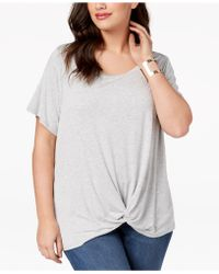 Style & Co. - Plus Size Twist High-low Hem Top, Created For Macy's - Lyst