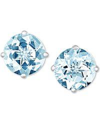 Macy's - Aquamarine Stud Earrings (1-1/2 Ct. T.w.) In 14k White Gold - Lyst