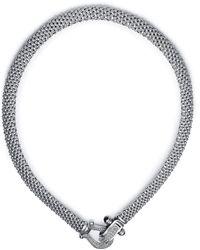 Macy's - Diamond Mesh Necklace In Sterling Silver (5/8 Ct. T.w.) - Lyst