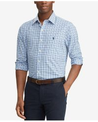 Polo Ralph Lauren - Slim Fit Plaid Cotton Shirt - Lyst