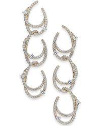 Danori - Silver-tone Cubic Zirconia Link Triple-drop Earrings, Created For Macy's - Lyst