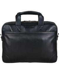 "Ben Sherman - Karino Leather Double Compartment 15"" Computer Case Bag - Lyst"