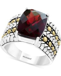 Effy Collection - Rhodolite Garnet Two-tone Statement Ring (6-3/8 Ct. T.w.) In Sterling Silver & 18k Gold - Lyst