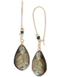 Robert Lee Morris - Gold-tone Abalone-look Teardrop Earrings - Lyst