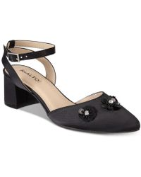 Rialto | Marjorie Embellished Block-heel Evening Court Shoes | Lyst